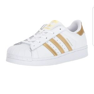 ADIDAS Superstar Clamshell Gold Stripe Sneakers